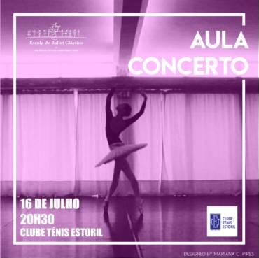 Aula Concerto no court central.