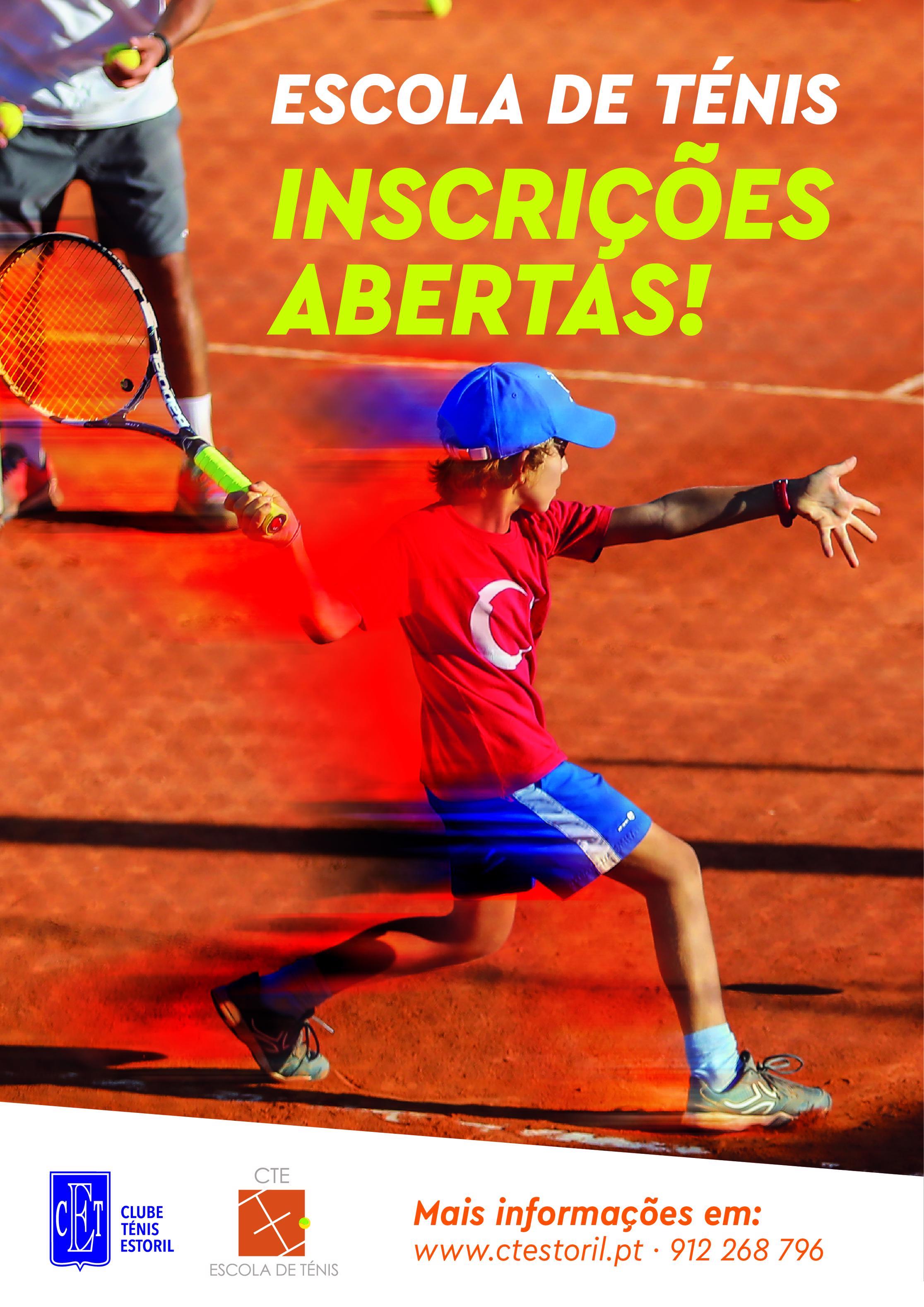Escola de ténis – Inscrições Abertas